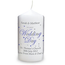 Personalised Wedding Day Candle - Product number 1441612