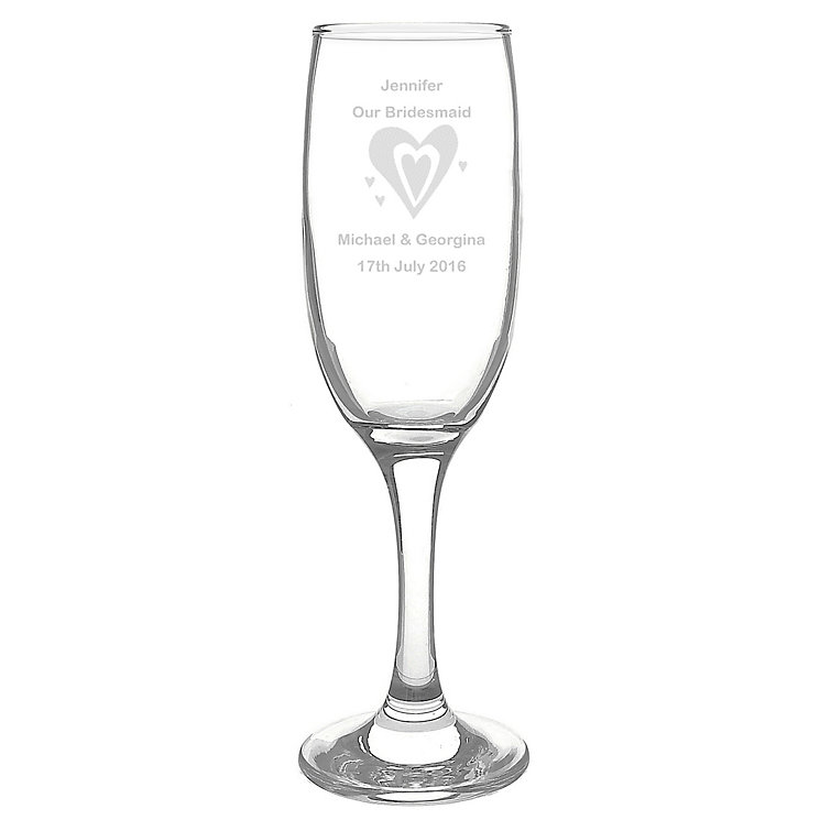 Personalised Designer Hearts Champagne Flute - Product number 1441663