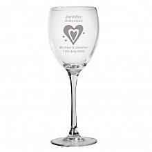 Personalised Designer Hearts Wine Glass - Product number 1441698