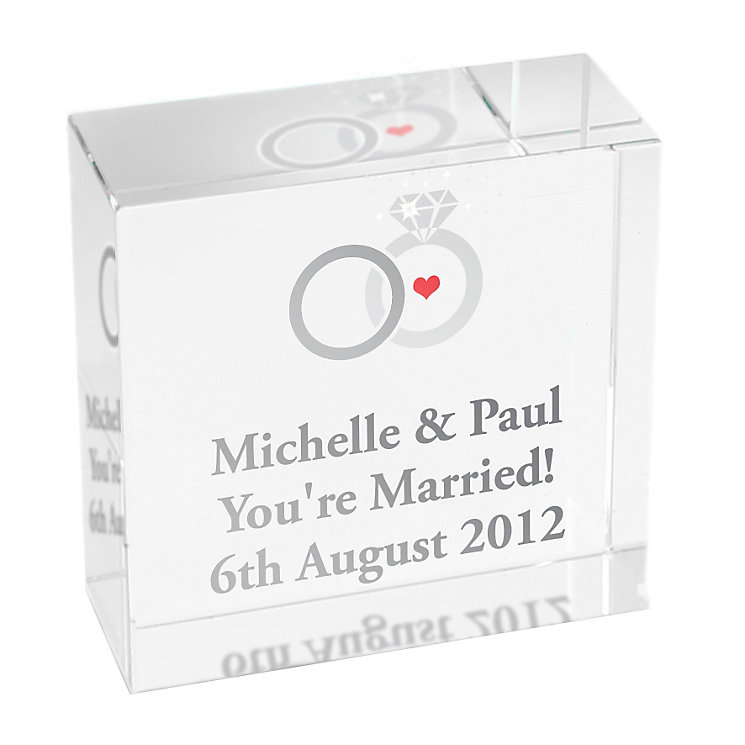Personalised Wedding Rings Crystal Token - Product number 1441876