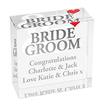Personalised Bride And Groom Crystal Token - Product number 1441884