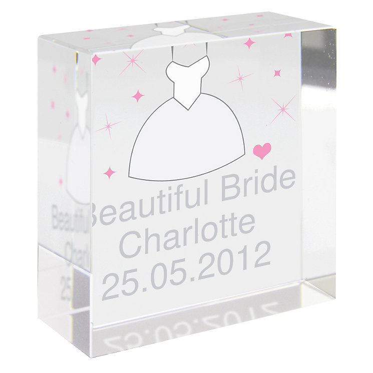 Personalised Bridal Dress Crystal Token - Product number 1441892