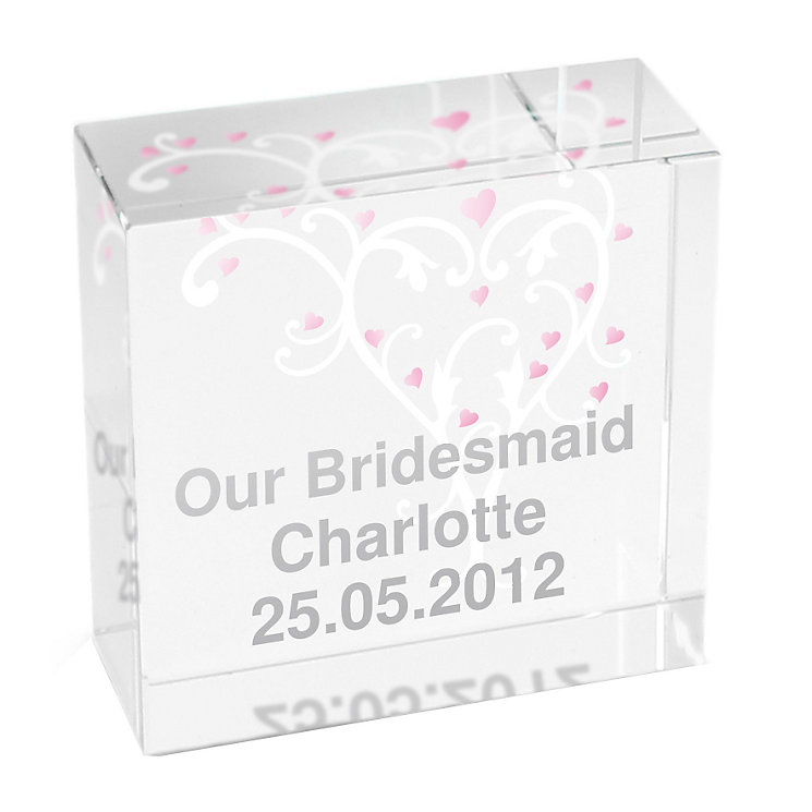 Personalised Wedding Heart Swirl Token - Product number 1441914