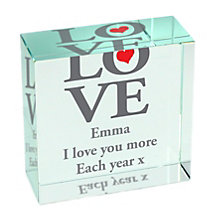 Personalised Love Crystal Token - Product number 1441930