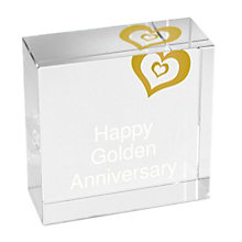 Personalised Gold Heart Crystal Token - Product number 1442007