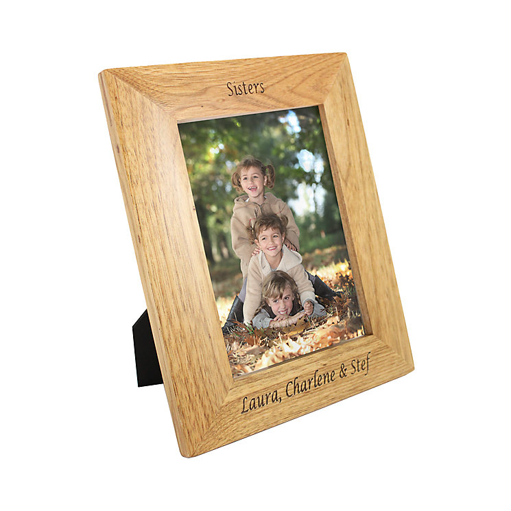 Personalised  5x7 Oak Portrait Photograph Frame - Product number 1442139