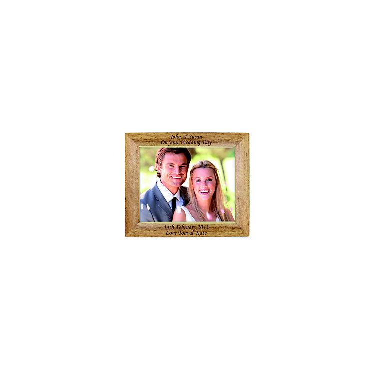 Personalised Landscape Wooden  5x7 Photograph Frame - Product number 1442562