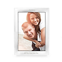 Engraved Silver 10x8 Portrait Photograph Frame - Product number 1442651