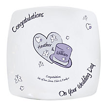 Personalised Hearts And Hats Butterfly Plate - Product number 1442732
