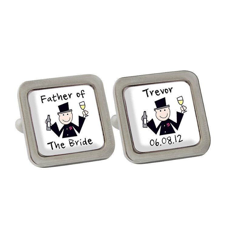 Personalised Cartoon Wedding Cufflinks - Product number 1442775