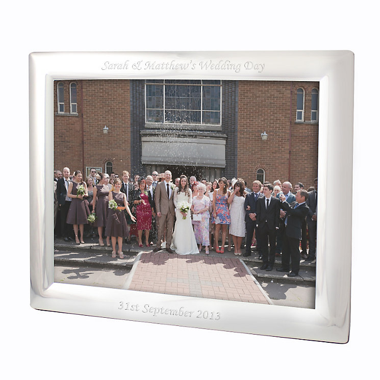 Engraved 10x8 Landscape Silver Photograph Frame - Product number 1443089
