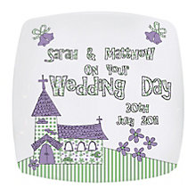 Personalised Wedding Church Plate - Product number 1443097