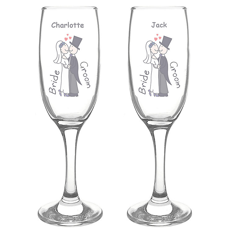 Personalised Cartoon Couple Flute Set - Product number 1443224