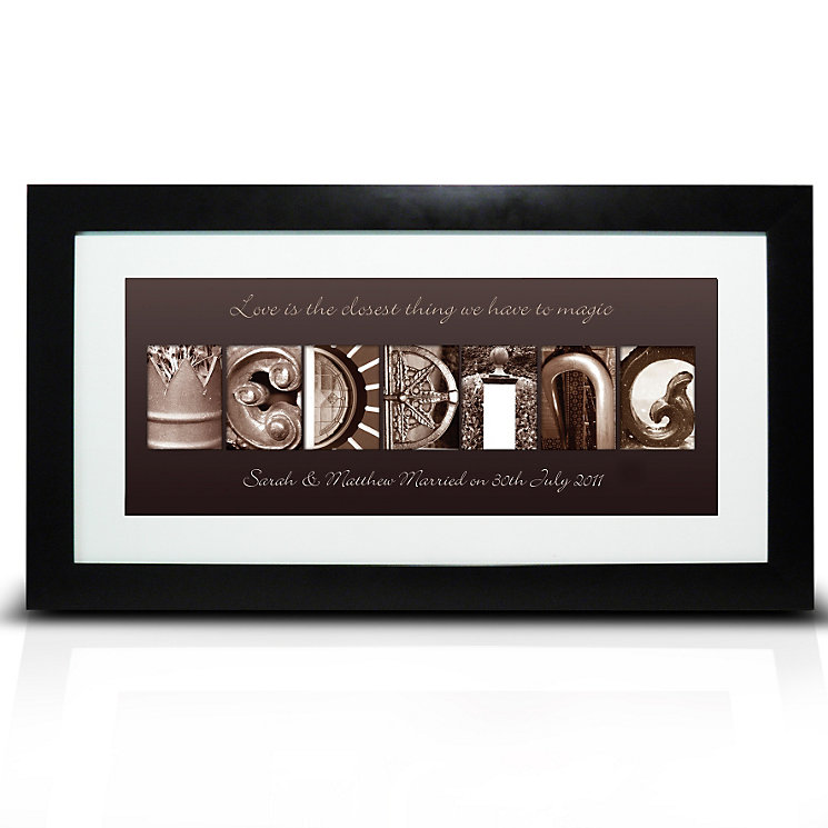 Personalised Affection Art Wedding Frame - Product number 1443887
