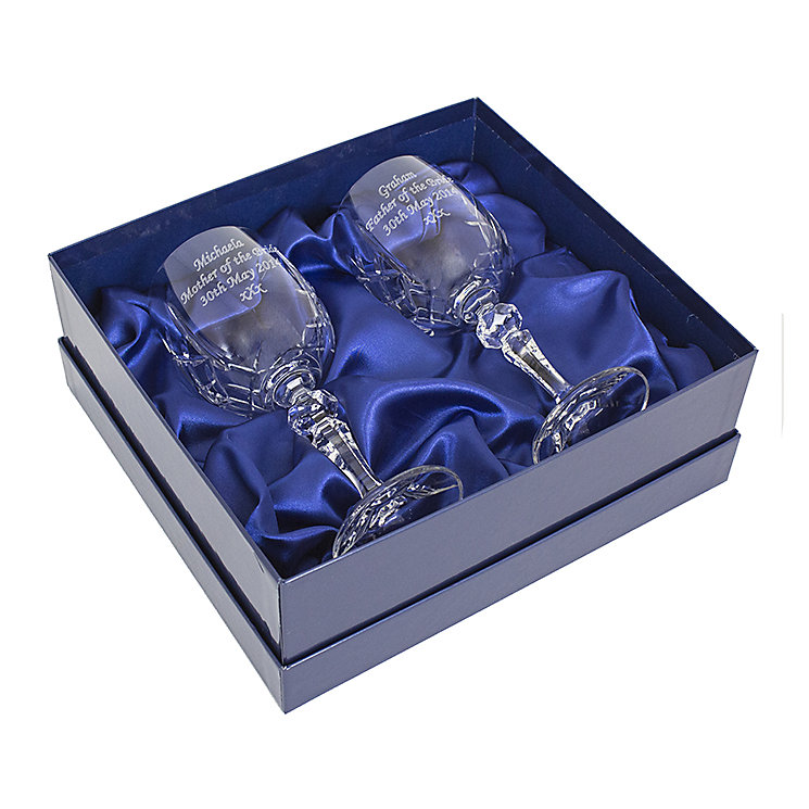 Engraved Pair of Crystal Wine Glasses - Product number 1443895
