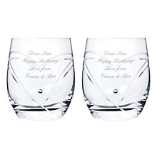 Personalised Swarovski Heart Whisky Glasses - Product number 1443941