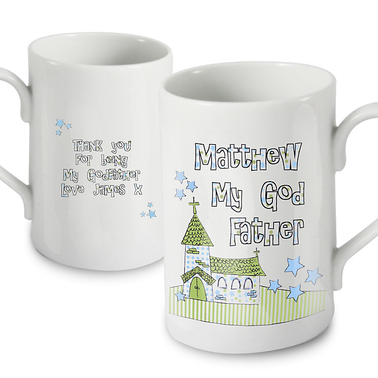 Personalised Whimsical Church God Father Mug - Product number 1444204