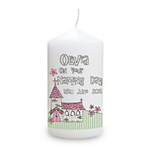 Personalised Pink Church Candle - Product number 1444220