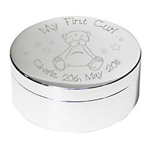 Engraved Teddy My First Curl Trinket Box - Product number 1444328