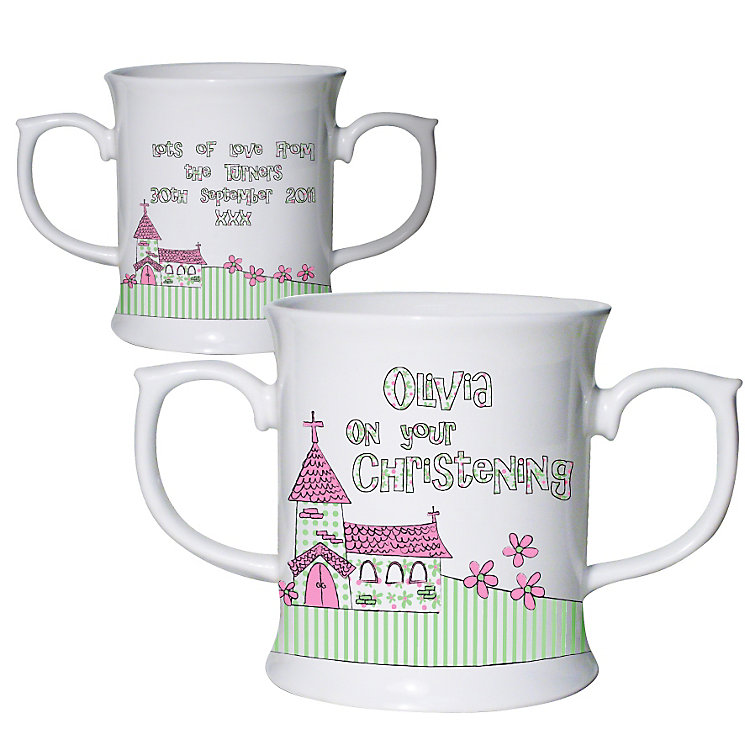 Personalised Pink Church Loving Mug - Product number 1444352