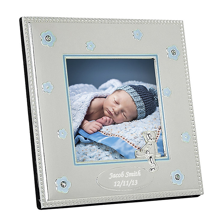 Engraved Blue Epoxy 3x3 Photo Frame - Product number 1444433