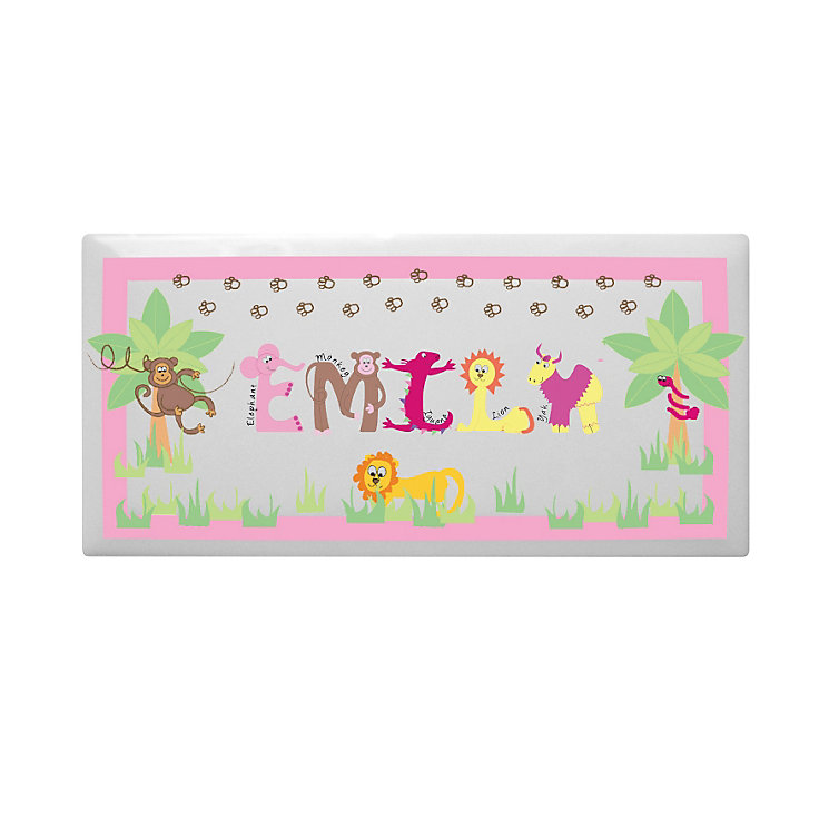 Personalised Animal Alphabet Girls Door Plaque - Product number 1444492