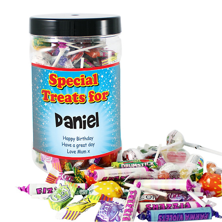 Personalised Special Treats Large Sweet Jar - Product number 1444670