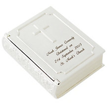 Engraved Silver Bible Trinket - Product number 1444905