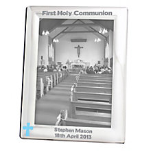 Personalised Blue Cross Silver 5x7 Frame - Product number 1445324