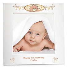 Personalised Teddy White 6x6 Frame - Product number 1445405