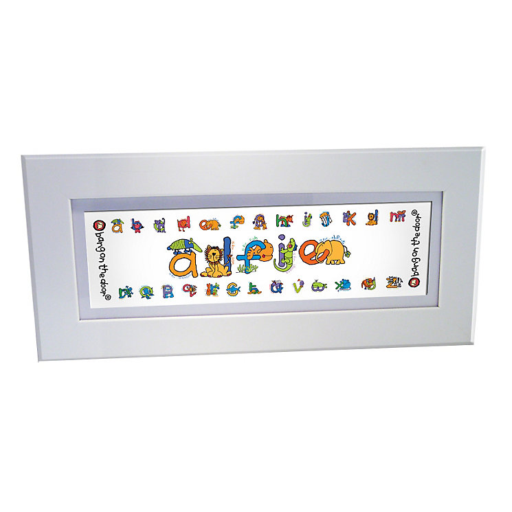 Personalised Bang On The Door Animal Alphabet Name Frame - Product number 1445499