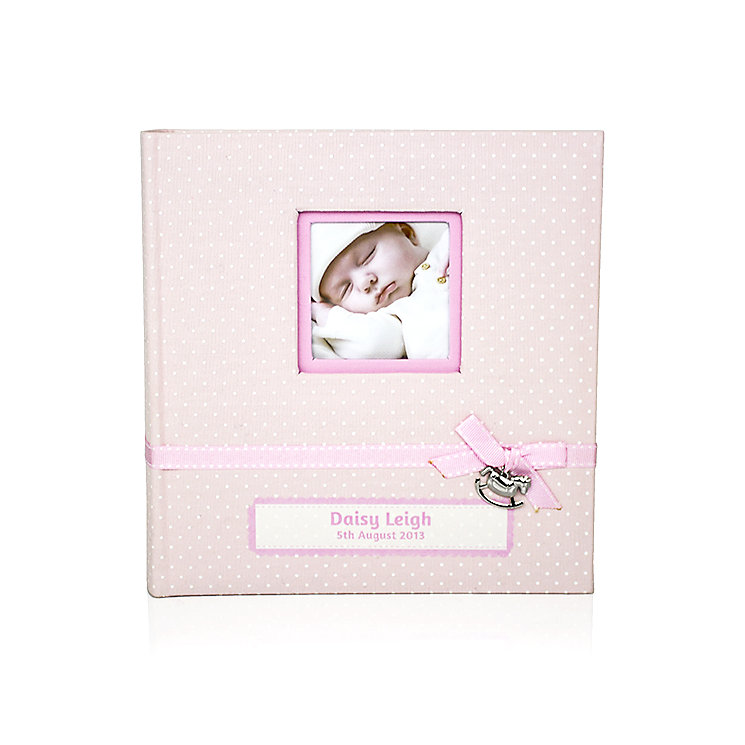 Engraved Polka Dot Pink Photograph Album - Product number 1445537