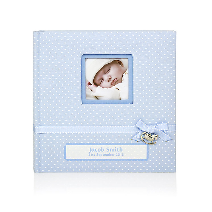 Engraved Polka Dot Blue Photograph Album - Product number 1445545