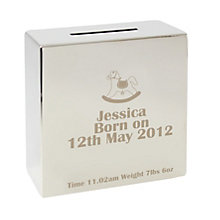 Engraved Rocking Horse Money box - Product number 1445669