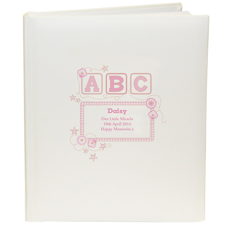 Personalised Pink ABC Photograph Album - Product number 1445766