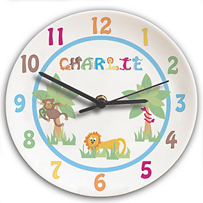 Personalised Animal Alphabet Boys Clock - Product number 1445936