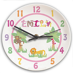 Personalised Animal Alphabet Girls Clock - Product number 1445944