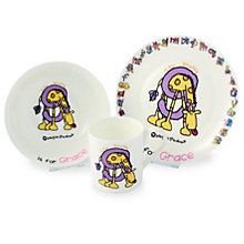 Personalised Bang On The Door Animal Alphabet Breakfast Set - Product number 1446029