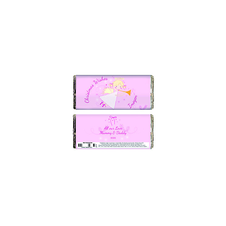 Personalised Angel Chocolate Bar - Product number 1446134