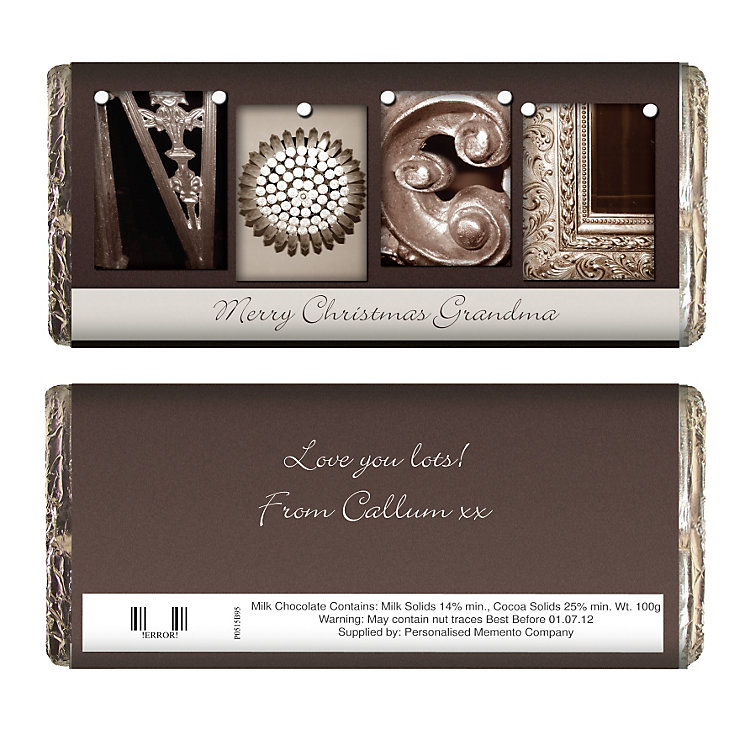 Personalised Affection Art Noel Chocolate Bar - Product number 1446169