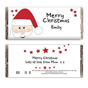 Personalised Santa Chocolate Bar - Product number 1446177