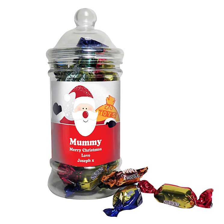 Personalised Santa Traditional Toffee Jar - Product number 1446282