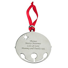 Engraved Bauble Tree Decoration - Product number 1446339