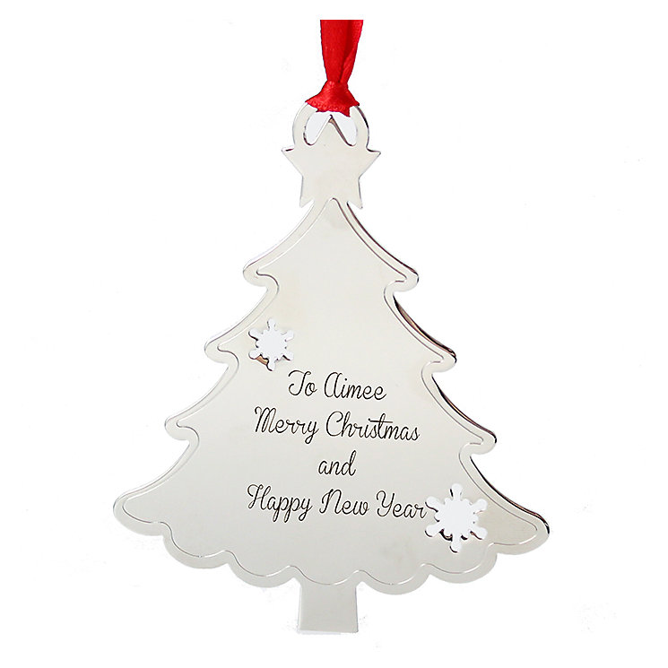 Engraved Tree Shaped Tree Decoration - Product number 1446347