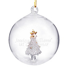Engraved Glass Christmas Tree Bauble - Product number 1446371