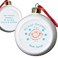 Personalised  Baby Boy My First Christmas Bauble - Product number 1446452