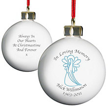 Personalised In Loving Memory Blue Angel Bauble - Product number 1446533