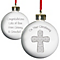 Personalised Grey Cross Bauble - Product number 1446711