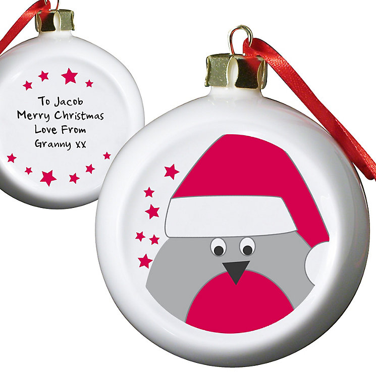 Personalised Robin Tree Decoration - Product number 1446789