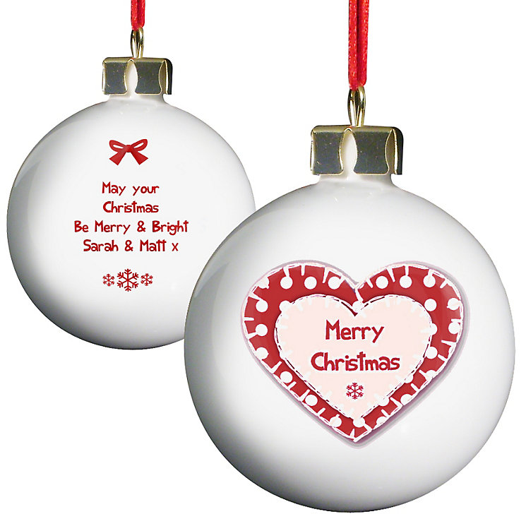 Personalised Christmas Heart Bauble - Product number 1446800